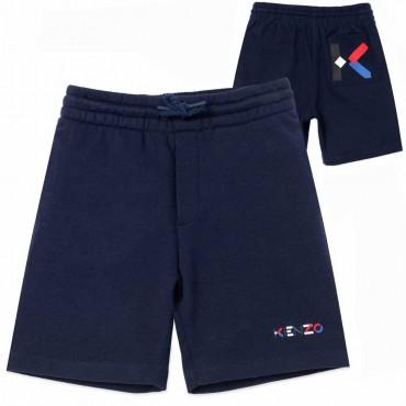 Granatowe szorty dla chłopca Kenzo 004490 - ubrania dla dzieci - sklep internetowy