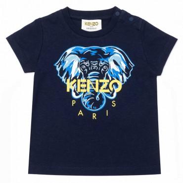 Granatowy t-shirt dla niemowlęcia Kenzo 004495