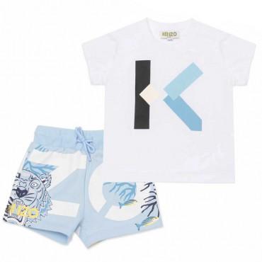 Komplet niemowlęcy Kenzo Kidswear 004498 - ubranka dla niemowląt - sklep internetowy