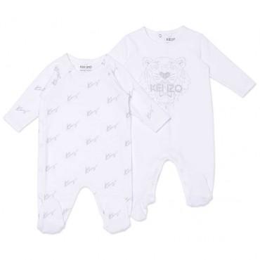 Komplet niemowlęcy 2 pajacyki Kenzo 004499 - ubranka dla maluchów