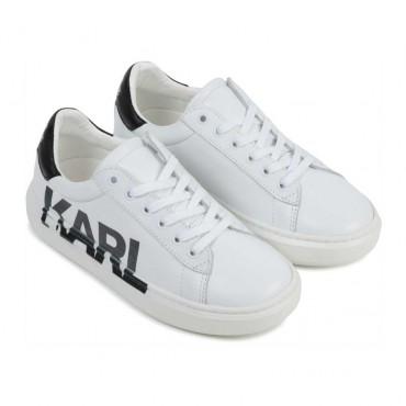 Białe trampki dla dziecka Karl Lagerfeld 004500