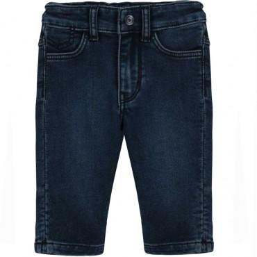 Miękkie jeansy niemowlęce Hugo Boss 004501 - spodnie dla chłopców - sklep internetowy