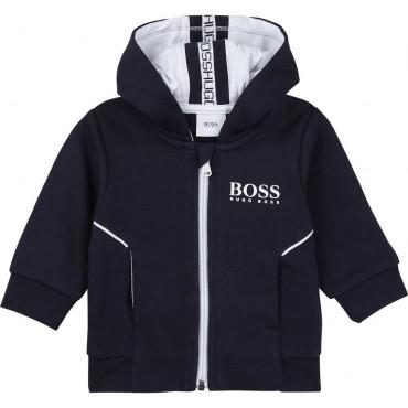 Granatowa bluza niemowlęca Hugo Boss 004510 - ubranka dla niemowląt - sklep internetowy