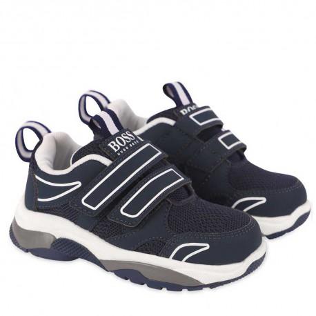 Sportowe buty dla chłopca Hugo Boss 004512 - ekskluzywne obuwie dla dzieci - sklep internetowy