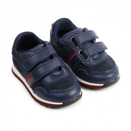 Skórzane sneakersy dla dziecka Hugo Boss 004519 - obuwie chłopięce - sklep internetowy