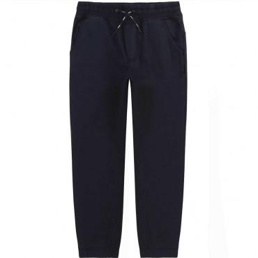 Bawełniane spodnie dla chłopca Hugo Boss 004520 - ubrania dla dzieci - sklep internetowy