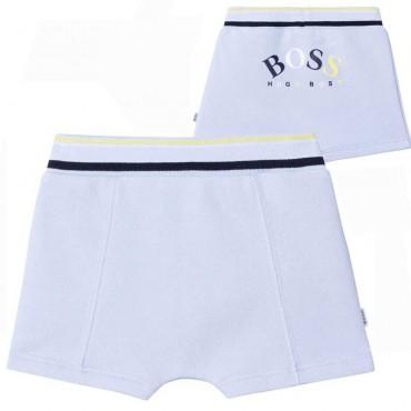 Błękitne szorty dla niemowlęcia Hugo Boss 004531 - ubranka niemowlęce - sklep internetowy