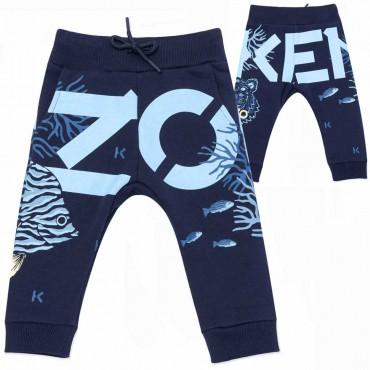 Spodnie niemowlęce Kenzo Kidswear 004534 - ubranka dla maluchów - sklep internetowy