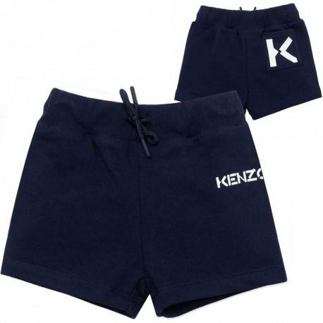 Granatowe szorty dla malucha Kenzo 004535 - odzież niemowlęca - sklep internetowy.