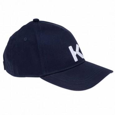 Granatowa bejsbolówka dla dziecka Kenzo 004537 - czapki dla dzieci - sklep internetowy
