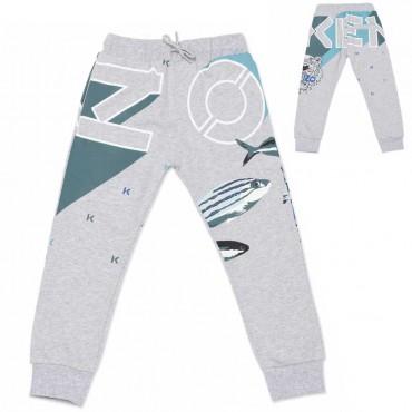 Spodnie treningowe dla chłopca Kenzo 004539 - stylowe ubrania dla dzieci - sklep internetowy