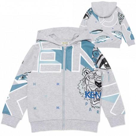 Chłopięca bluza z kapturem Kenzo 004540 - oryginalne ubrania dla dzieci - sklep internetowy