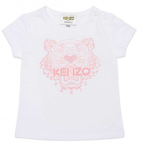 Koszulki niemowlęce z tygrysem Kenzo 004542 - kultowe ubranka dla małych dziewczynek - sklep internetowy