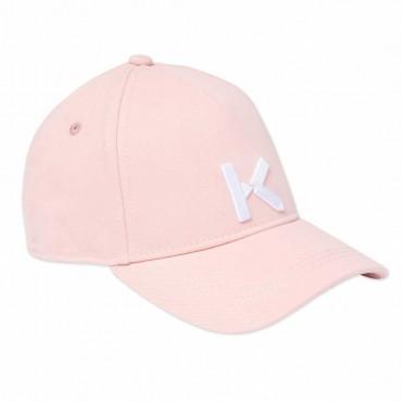 Czapka z daszkiem dla dziewczynki Kenzo 004543 - sklep internetowy ze stylowymi ubrankami dla dzieci