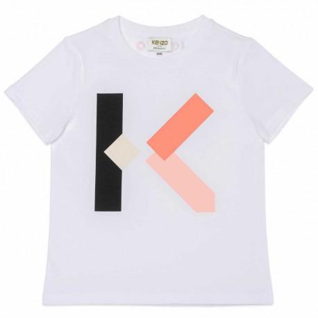 Koszulki dziewczęce z monogramem Kenzo 004547 - ekskluzywna odzież dla dzieci - sklep internetowy