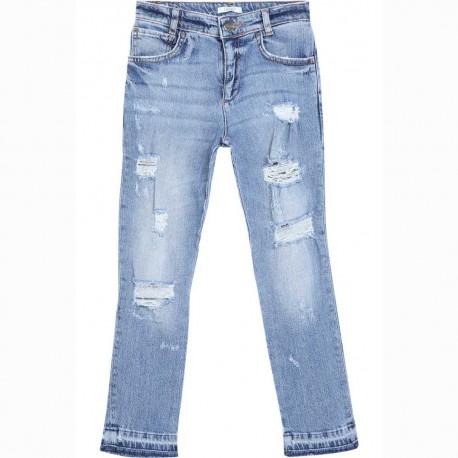 Jeansy dziewczęce z wydarciami Liu Jo 004551 - stylowe ubrania dla nastolatek - sklep internetowy