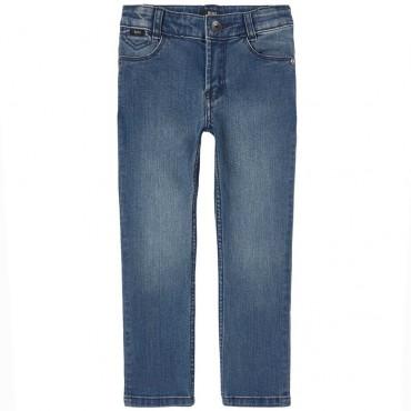 Granatowe jeansy dla chłopca Hugo Boss 004371 - ekskluzywne ubrania dla dzieci - sklep internetowy euroyoung.pl