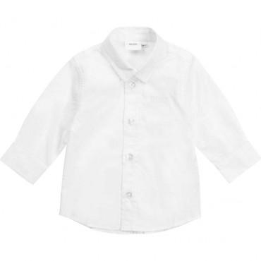 Biała koszula niemowlęca Hugo Boss 004556 - eleganckie ubranka do chrztu - sklep internetowy