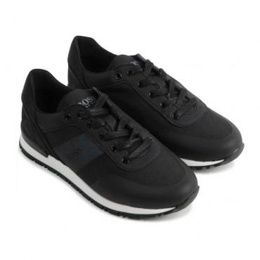 Czarne sneakersy dla dziecka Hugo Boss 004559