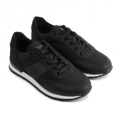 Czarne sneakersy dla dziecka Hugo Boss 004559 - sportowe buty dla chłopców - sklep internetowy