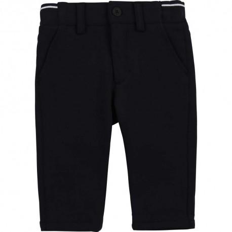 Granatowe spodnie dla chłopca Hugo Boss 004562 - markowe ubrania wizytowe dla dzieci - sklep internetowy