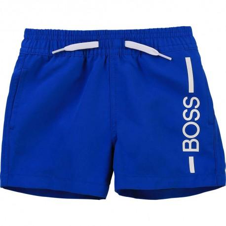 Niemowlęce szorty kąpielowe Hugo Boss 004563 - stylowe kąpielówki dla chłopca - sklep internetowy