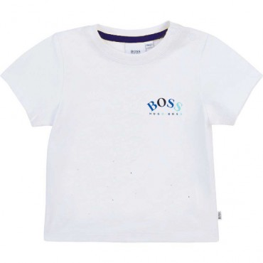 Biały t-shirt niemowlęcy Hugo Boss 004564