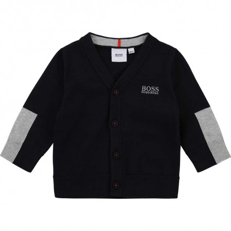Kardigan dla małego chłopca Hugo Boss 004565 - stylowe ubranka niemowlęce - sklep internetowy