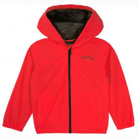 Czerwona wiatrówka niemowlęca Hugo Boss 004566 - ubranka dla maluszków - sklep internetowy