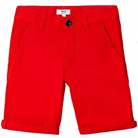 Bawełniane szorty dla chłopca Hugo Boss 004568 - ubrania dla dzieci - sklep internetowy