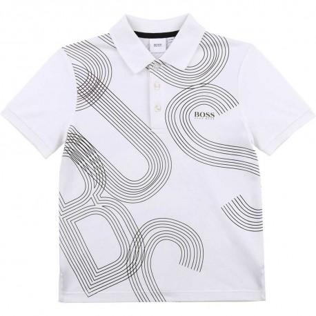 Chłopięce polo z nadrukiem Hugo Boss 004574 - ubrania dla dzieci i młodzieży - sklep internetowy