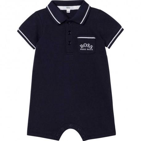 Letni pajacyk niemowlęcy Hugo Boss 004576 - odzież dla maluszków - wyprawka