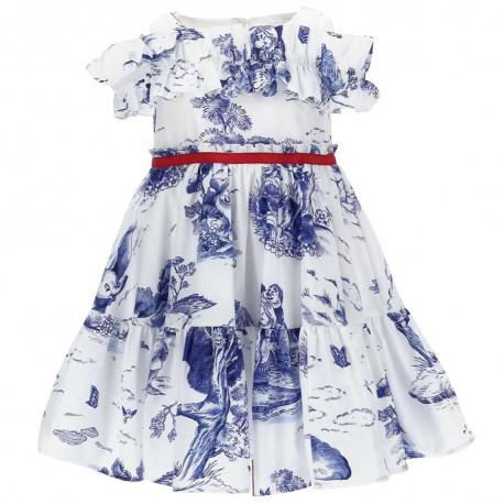 Wizytowa sukienka dla dziewczynki Monnalisa 004577 - ekskluzywne ubrania dla dzieci - sklep internetowy