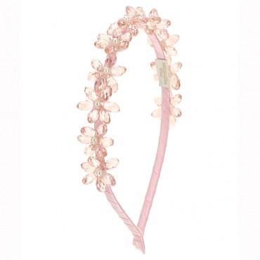 Różowa opaska na włosy Monnalisa 004579