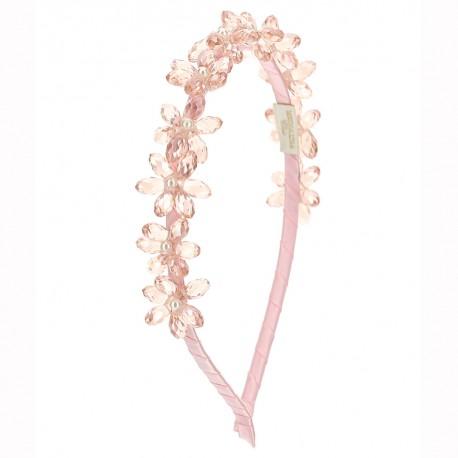 Różowa opaska na włosy Monnalisa 004579 - akcesoria i dodatki odzieżowe dla dzieci - sklep internetowy