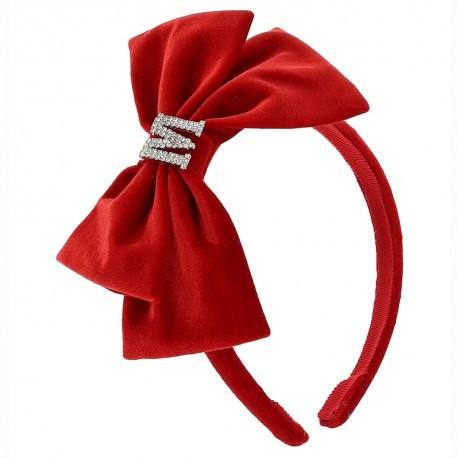 Czerwona opaska do włosów Monnalisa 004595 - moda dla dzieci - sklep internetowy euroyoung.pl