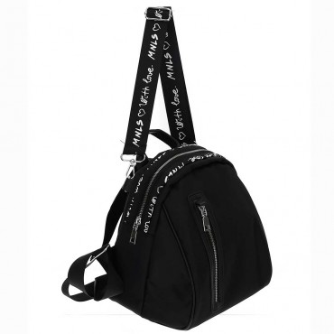 Czarny plecak dla dziewczynki Monnalisa 004601 - plecaki i torby dla dzieci - sklep internetowy euroyoung.pl