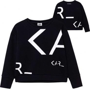 Bluza młodzieżowa dziewczęca Karl Lagerfeld 004604 - modne ubrania dla nastolatek i starszych dzieci - sklep internetowy euroyou
