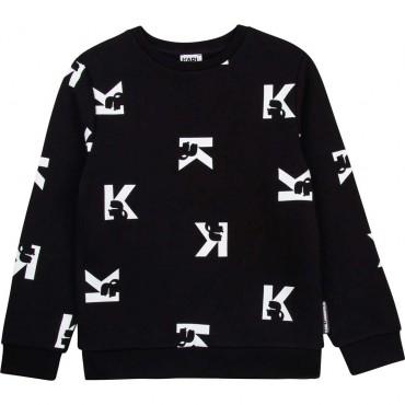 Czarna bluza chłopięca Karl Lagerfeld 004605 - oryginalne bluzy młodzieżowe chłopięce - sklep internetowy euroyoung.pl