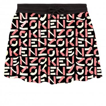 Spódnica dla dziewczynki Kenzo Kidswear 004611 - markowe ubranka dla dzieci - sklep internetowy euroyoung.pl