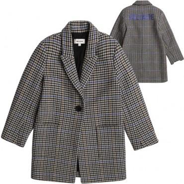 Płaszcz w kratę dla dziewczynki Z&V 004615 - ekskluzywne ubrania młodzieżowe - sklep internetowy euroyoung.pl