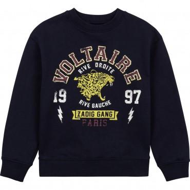 Chłopięca bluza z nadrukiem Zadig&Voltaire 004616 - markowe bluzy młodzieżowe dla nastolatków - sklep internetowy euroyoung.pl
