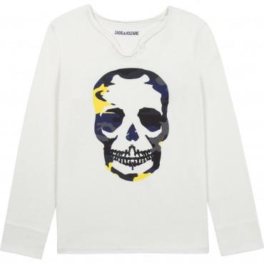Koszulka chłopięca z czaszką Zadig&Voltaire 004617 - stylowe ubrania młodzieżowe dla nastolatków - sklep internetowy euroyoung.p