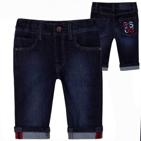Miękkie jeansy dla małego chłopca Hugo Boss 004618 - ekskluzywne ubranka niemowlęce - sklep internetowy euroyoung.pl