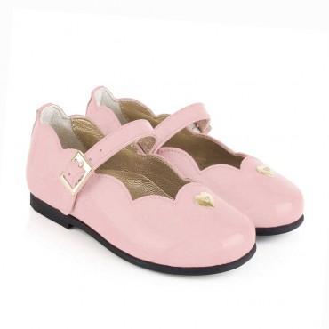 Różowe baleriny dla dziewczynki Armani Junior 001018 - ekskluzywne obuwie dla dzieci - sklep internetowy euroyoung.pl