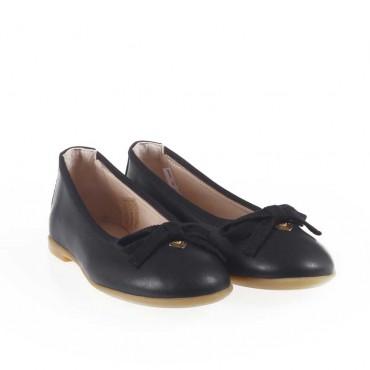 Granatowe balerinki dla dziewczynki Armani 001023 - eleganckie obuwie dla dzieci i nastolatek - sklep internetowy euroyoung.pl