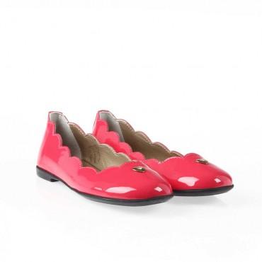 Różowe balerinki dla dziewczynki Armani Junior 001020 - eleganckie obuwie dla dzieci i młodzieży - sklep internetowy euroyoung.p