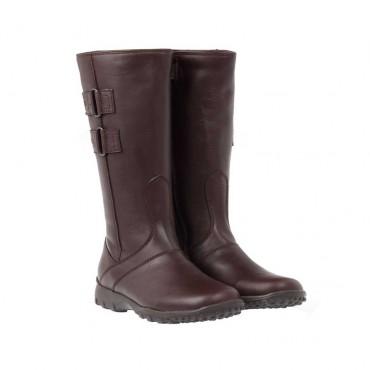 Brązowe kozaki dziewczęce Cherie 000481 - klasyczne buty dla dzieci - sklep internetowy euroyoung.pl