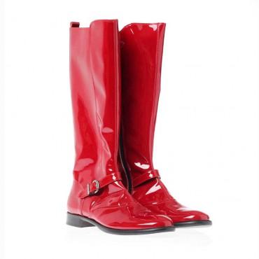 Czerwone kozaki dla dziewczyny Gallucci 5138 - zimowe buty dla dzieci i młodzieży - sklep internetowy euroyoung.pl