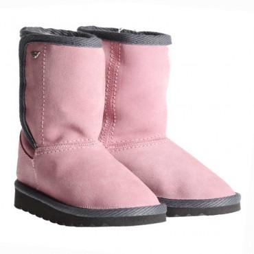 Różowe buty dla dziewczynki Armani Junior ZE532 - ciepłe obuwie dla dzieci - sklep internetowy euroyoung.pl